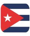 Glas viltjes met Cubaanse vlag 15 st