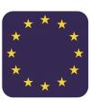 Glas viltjes met Europese vlag 15 st