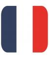 Glas viltjes met Franse vlag 15 st