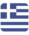 Glas viltjes met Griekse vlag 15 st