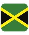 Glas viltjes met Jamaicaanse vlag 15 st