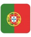 Glas viltjes met Portugese vlag 15 st
