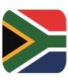 Glas viltjes met Zuid afrikaanse vlag 15 st