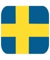 Glas viltjes met Zweedse vlag 15 st