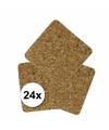 Onderzettertjes 24 stuks kurk